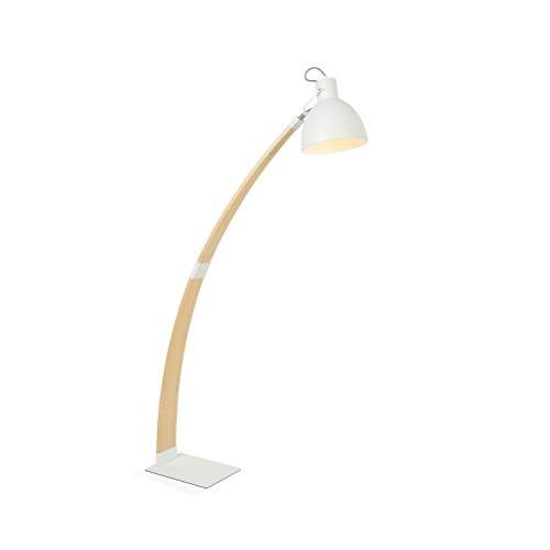 7 Nordic - Lámpara de pie de madera maciza para salón moderno de estilo japonés, sala de estudio, dormitorio vertical, lámparas de pesca LD0102