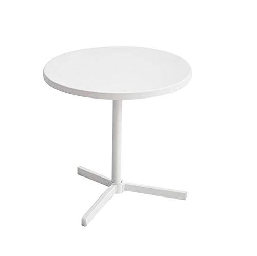 Life Weißer Kaffeetisch, Runder Sofa-Beistelltisch-Eisen-Telefontisch-Esstisch-Computer-Tabelle 45 * 45 * 45CM