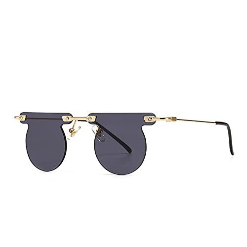LUOXUEFEI Gafas De Sol Gafas De Sol Sin Montura Para Hombre, Gafas De Sol Redondas Para Mujer, Gafas Sin Montura