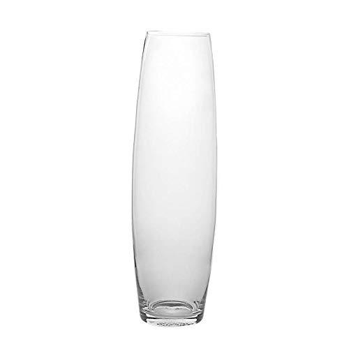 CRISTALICA Vaso Vaso Decorativo Vaso in Vetro Famoso H = 50 cm Vetro Trasparente