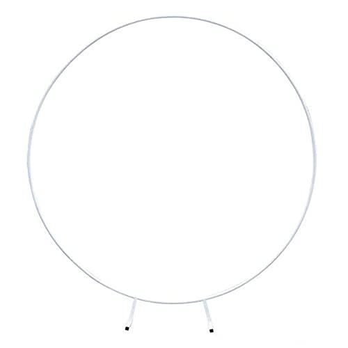Oggetti di Scena per Matrimoni Supporto per Arco di Nozze Fondale per Arco Cerchio in Metallo Arco per Palloncini Stand Decor Prato Fila Artificiale Stand Mensola Muro,Bianca,1.2m