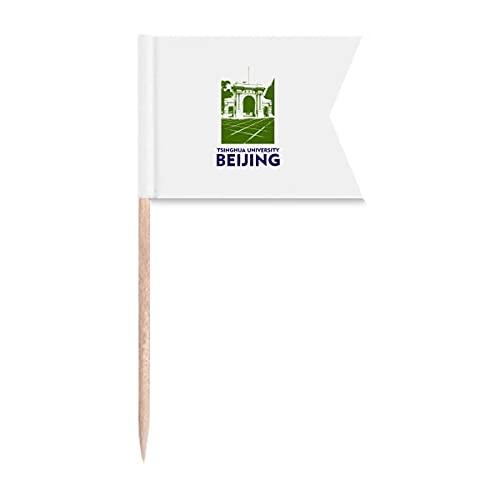 Tsinghua University Urban Tourism Peking China Zahnstocher Flaggen Markierung für Party Kuchen Lebensmittel Käseplatte