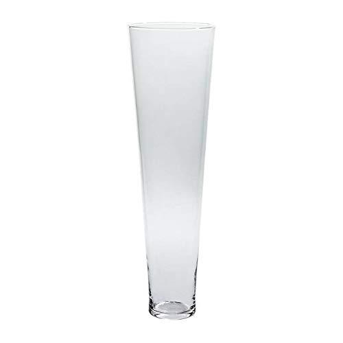 CRISTALICA Vaso Vaso Decorativo Vaso in Vetro Famoso H = 80 cm Vetro Trasparente