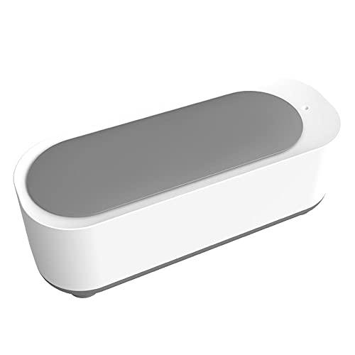 Warmdeco Limpiador ultrasónico, portátil, hogar, máquina de Limpieza Inteligente, joyería, anteojos, Relojes, Cabezales de afeitadora, Limpieza, Blanco