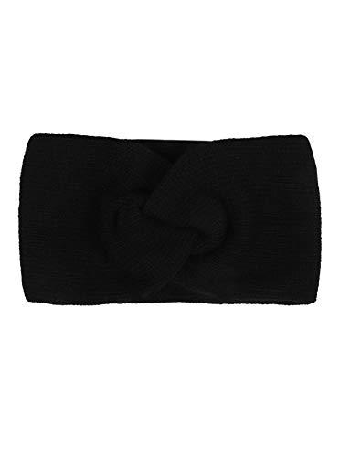 Zwillingsherz Stirnband mit Zopf-Knoten - Hochwertiges Strick-Kopfband für Damen Frauen Mädchen - Kaschmir - Ohrenschutz - Haarband - warm weich und luftig für Frühjahr Herbst und Winter - swz