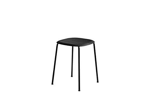 HAY - Soft Edge 70 Hocker - schwarz gebeizt - schwarz - Iskos - Berlin - Design - Hocker - Küchenstuhl