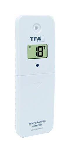 TFA Dostmann 30.3239.02 Thermo-Hygro-Sender für das Funk-Poolthermometer Marbella, mit Display