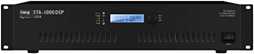 IMG STAGELINE STA-1000DSP Stereo PA-digitale versterker met DSP-technologie zwart