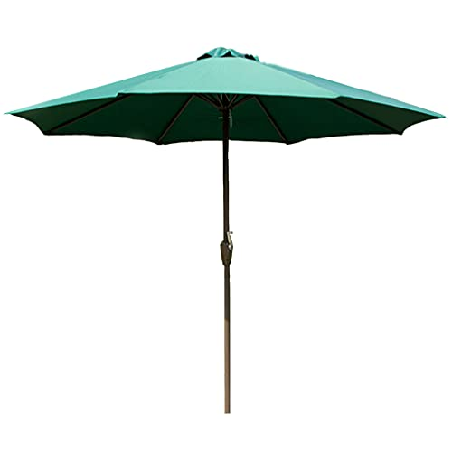 ZHIFENGLIU Sombrilla con Manivela, 270cm PañO PoliéSter para Paraguas Acero Parasol Jardin Impermeable ProteccióN Solar, Parasol Jardin para Exterior JardíN Patio,Verde