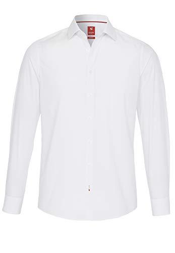 Pure Herren 3355-144 City Red Langarm Hemd, Uni weiß, L