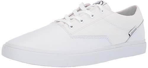 Volcom Herren Men's Suede Shoe Draw Lo Wildleder Skate, Weißer Blitz, 37.5 EU