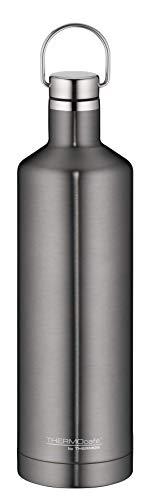 ThermoCafé Thermosflasche Traveler Bottle grau 750ml, Edelstahl Trinkflasche auslaufsicher auch bei Kohlensäure, 4070.234.075 Isolierflasche 12 Stunden heiß, 24 Stunden kalt, Wasserflasche BPA-Frei