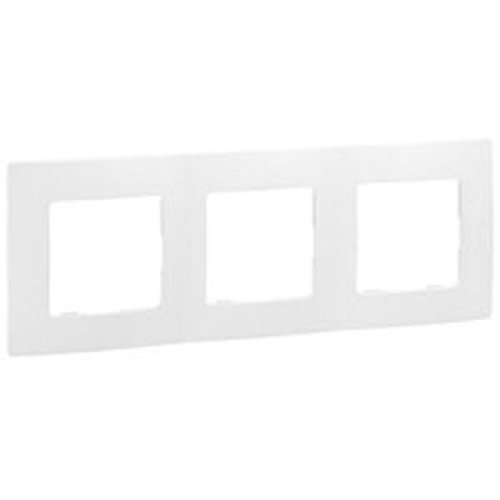 Legrand Niloé 665003 NL-Plaque pour interrupteur avec 3 entrées, Blanc