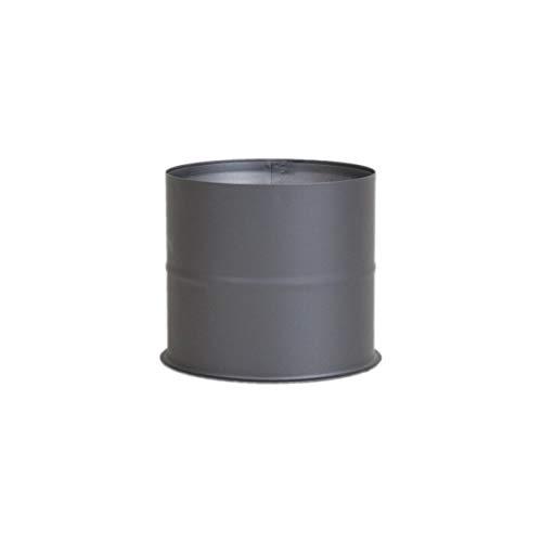 LANZZAS Ofenrohr Wandfutter/Mauermuffe - für den Durchmesser Ø 120 mm - Farbe: gussgrau - Rauchrohr Wandmuffe