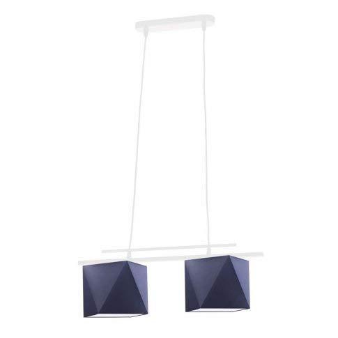 MADRYT - Lámpara de techo con pantalla de lámpara, color azul marino
