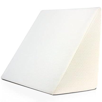 Purovi Almohada de Lectura - Almohadas Antireflujo Ergonómicas, cojín con forma de cuña para cama y sofá, soporte para la espalda y elevador de piernas con forma triangular