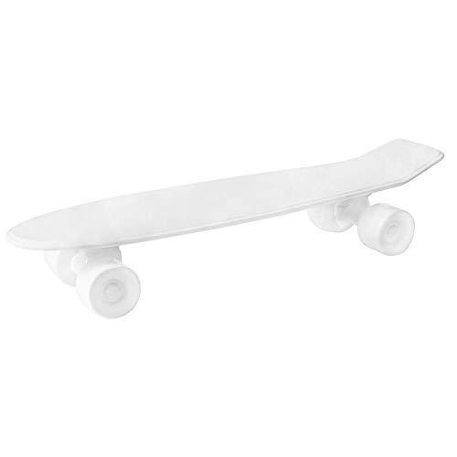 SELETTI – Plateau Skateboard Souvenirs, Porcelaine, Blanc, 58 x 15 x 11 cm