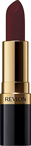 Revlon Super Lustrous Lipstick with Vitamin E and Avocado Oil, Cream Lipstick in Burgundy, 477 Black Cherry, 0.15 oz (Pack of 2)