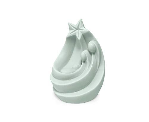 MANULENA Figura Decorativa Y Aromática con Forma De Belén. Aroma Cozy Musk. Color Verde. Tamaño Pequeño. Figura Tradicional De Navidad Temática Religiosa. Tamaño 9,5 x 6,5 x 8,5 cm.
