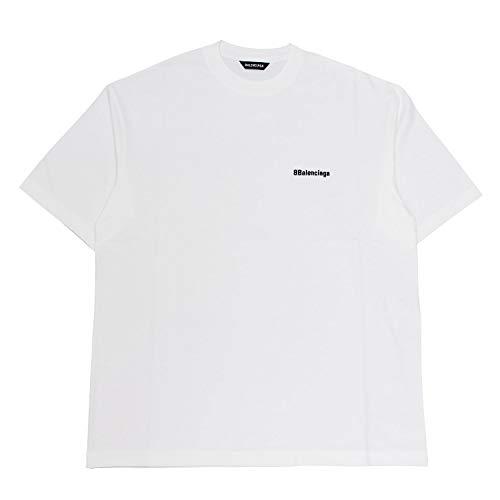 BALENCIAGA (バレンシアガ) 半袖Tシャツ メンズ BB CORP MEDIUM FIT T-SHIRT 612966 TJV87 9040 ホワイト Sサイズ [並行輸入品]