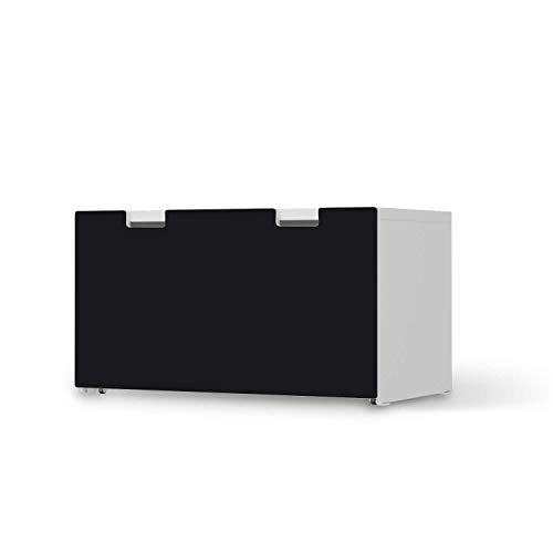 creatisto Kinder Möbelfolie selbstklebend - passend für IKEA Stuva Banktruhe I Tolle Kinder-Zimmer Deko - Möbelaufkleber für Kinder- und Babyzimmer I Design: Schwarz