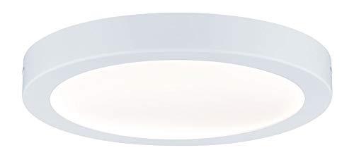 Paulmann 70899 LED Panel Abia rund incl. 1x22 Watt Deckenlampe Weiß matt Deckenleuchte Kunststoff Wohnzimmerlampe 2700 K