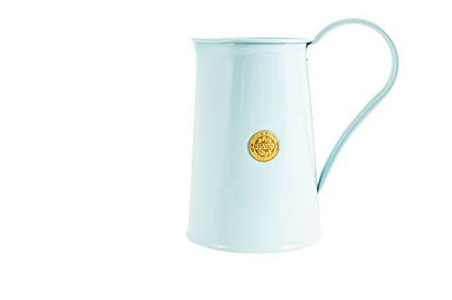 HAWS - Jarra de flores (galvanizada, 1,8 L, diseño multifuncional, diseño floral, utensilios de cocina, jarra de agua, color azul