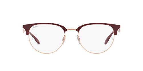 Ray-Ban 0RX6396 Gafas, RED CHERRY, 51 Unisex Adulto