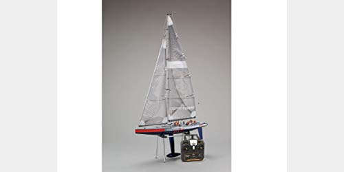 Kyosho 40042S-B Fortune 612 III Ready Set RC Sailboat Vehicle, 612 mm, Blue/Red/White