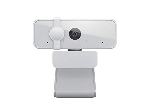 Lenovo 300 FHD Webcam with Full Stereo Dual Built-in mics | FHD 1080P 2.1 Megapixel CMOS Camera |Ultra-Wide 95° Lens | 360° Rotation | Flexible Mount (GXC1B34793)