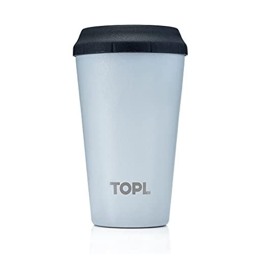 TOPL Reusable Coffee Cup Regular 12oz Stone Grey