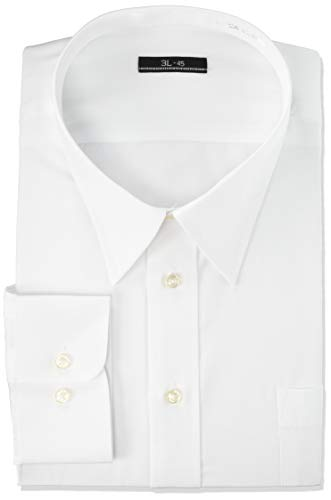 [アトリエサンロクゴ] 白ワイシャツ ワイシャツ 白 イージーケア 形態安定 メンズ ホワイト 長袖Yシャツ レギュラー 首回り45cm裄丈88cm(日本サイズ3L相当)