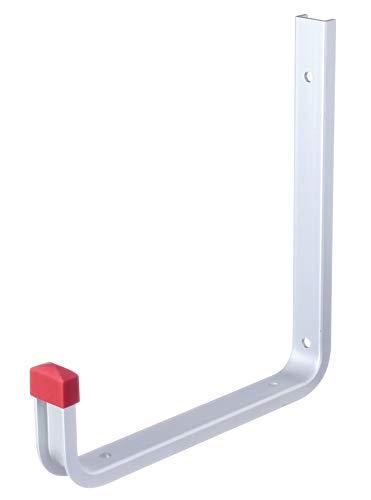 GAH-Alberts 805555 Wandhaken | wahlweise in verschiedenen Ausführungen | abgewinkelt | Aluminium | Tiefe 190 mm | Höhe 200 mm