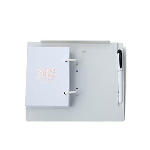 ZAIZAI Desk Calendars 2022 Standing Flip Calendar From Jan 2022- Dec 2022 Desktop Calendars With Pen Slot For School Or Office (Color : White)