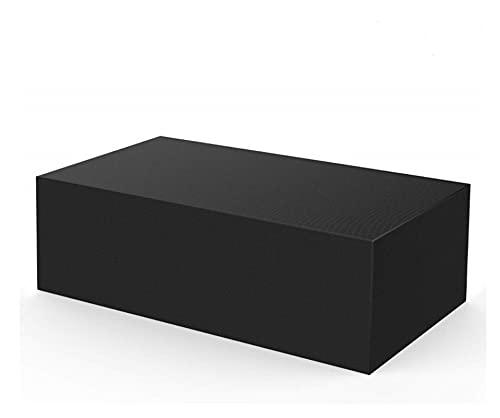 ZZJUN Xxjun Store Funda de Muebles a Prueba de Agua 210T para jardín Ratan Tabla Cubo Silla Sofá Caja Protectora de Patio al Aire Libre (Color : Black, Specification : 242 x 162 x 100cm)