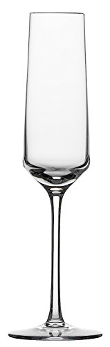 Schott Zwiesel 112941 Serie Pure 2-teiliges Sektglas Set, Kristallglas