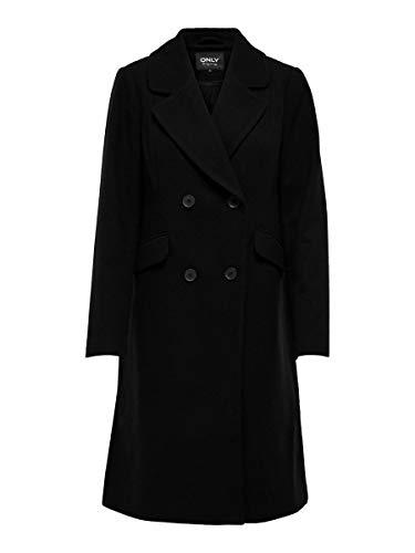 ONLY Damen ONLLOUIE Life Wool Coat CC OTW Wollmantel, Black, S