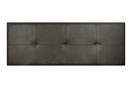 Imperial Relax | Cabecero Tapizado Polipiel Cuadros | Acolchado en Espuma | Grosor 5cm | Herrajes para Colgar incluidos (Cama 150 (160x50), Chocolate)
