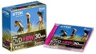 TDK DVD+RW14JCEC5 8cm DVD+rw 4x 1.4GB 5 Pack Jewel Cased