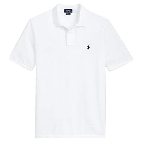 Polo Ralph Lauren Classic Fit Mesh Pony Logo Polo Shirt (XL, BasicWhite)