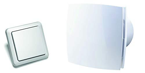 Abluftventilator im zeitlosen Design, mit Funk-Fernbedienung in Schalter-Optik