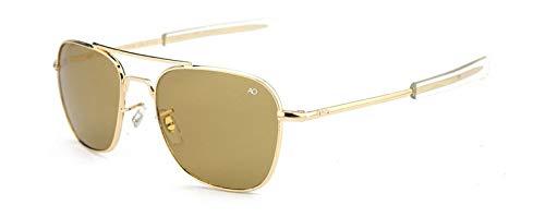 TYJYY Sunglasses Gafas De Sol De Los Hombres De Las Gafas De Sol del Diseñador De La Marca para La Lente Militar del Vidrio Óptico del Ejército Americano Masculino