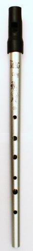 Clarke Pennywhistle TIN WHISTLE Stimmung D silber -- die beliebte Whistle vom Originalhersteller aus England mit Grifftabelle und Noten zu 4 Songs