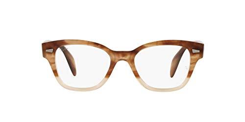 Ray-Ban 0RX0880 Gafas, GRADIENT LIGHT BROWN HAVANA, 49 Unisex Adulto