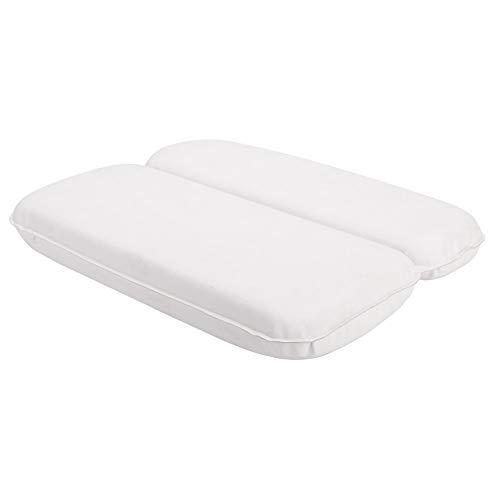 Baalaa Almohada de BaaO Almohadas de BaaEra Spa CojíN BaaEra Cabeza, Reposacabezas Apoyo para Cuello Almohada de Spa de 2 Paneles, 11 X 14,6 Pulgadas, Almohadas de BaaO, Color Blanco