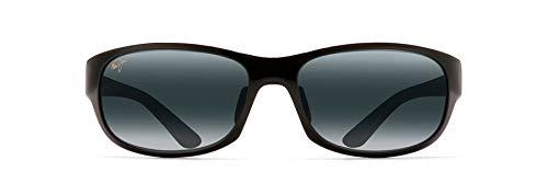 Maui Jim Twin Falls Wrap Sunglasses, Gloss Black Fade/Neutral Grey Polarized, Medium