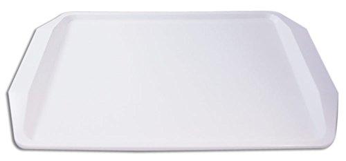 Plateau de service rectangulaire antidérapant (blanc)