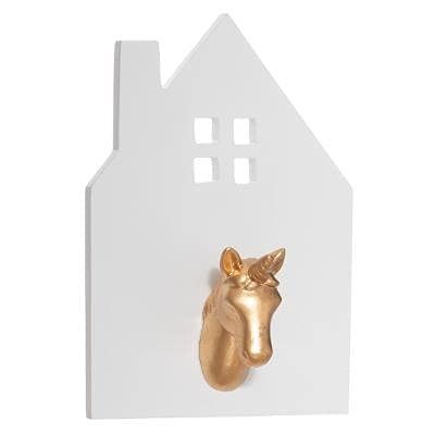 Perchero infantil de unicornio, moderno y hermoso, estilo bohemio, perchero, perchero, perchero, perchero, perchero, perchero, perchero de pared para niñas y niños, de madera, color blanco y d