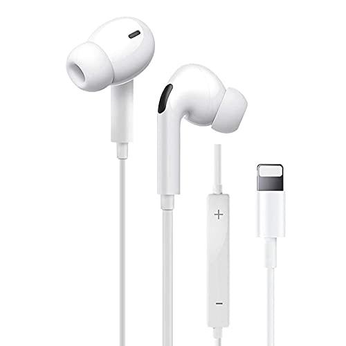 In-Ear Auriculares para iPhone 11 [Control de Volumen Micrófono Llamada] Auriculares de Cable Sonido Estéreo Auriculares Bluetooth Compatible para iPhone 12/12pro/11/11pro/XS/XR/X con Todos los iOS