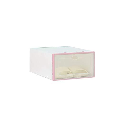 TYLJ MyBHD Zapato Transparente la Caja a Prueba de Polvo Caja de Almacenamiento Almacenamiento de Zapatos (Color : Pink)